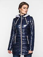 Зимняя удобная длинная женская теплая водонепроницаемая стеганая куртка на двойном синтепоне 90118/2
