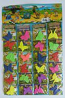 Бабочка растишка растущая в воде 24 шт Colored Crowing