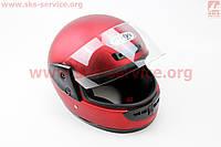 Шлем закрытый HF-101 M- КРАСНЫЙ матовый