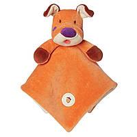 Greenpoint Brands, My Natural, Lovie Blankie, оранжевая собака, 1 одеяльце