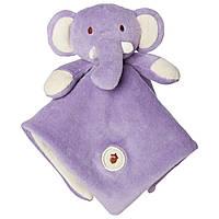Greenpoint Brands, My Natural, Lovie Blankie, фиолетовый слон, 1 одеяльце