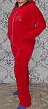 Женский велюровый костюм  с капюшоном, фото 2