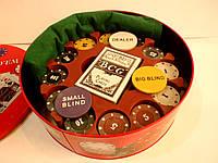 """Набор для покера на 240 фишек """" TEXAS HOLD'EM"""" в металлической коробке"""