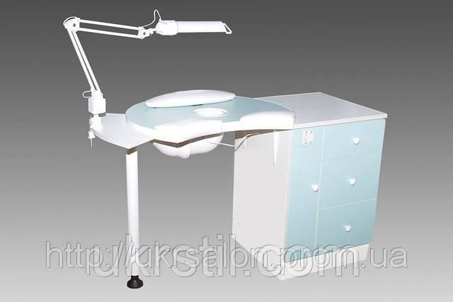 Маникюрный стол А-1 с вытяжкой