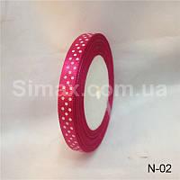 Атласная лента принт 10 мм, (23м/моток), лента атлас принт 1 см., атласные ленты принт