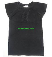 Туника-жилет чёрного цвета, рост 146 см