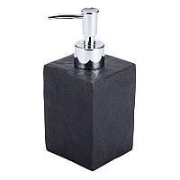Черный, керамический  дозатор, в ванную комнату настольный