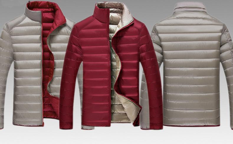 ... Мужской двухсторонний пуховик. Мужская куртка Весна-Осень. Модель 817,  ... 2fbd5f9aa85