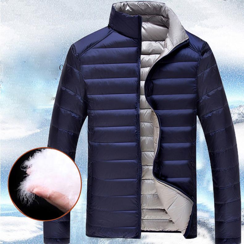 f088c1b8a44 Мужской двухсторонний пуховик. Мужская куртка Весна-Осень. Модель ...