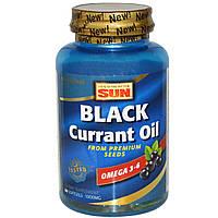 Масло черной смородины, Black Currant Oil, Health From Sun, 60 капсул