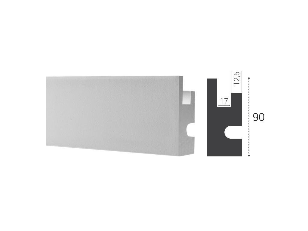 Потолочный плинтус под подсветку KD 301 (0.04 x 1.15 x 0.09)