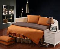 Комплект постельного белья с цельной простынью - подзором на Круглую кровать Медовый + Порох