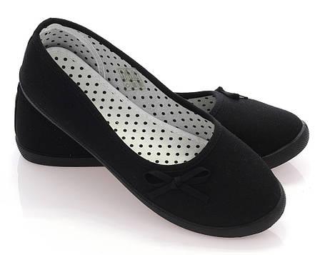 Женские балетки Алина черный