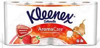 Бумага туалетная 3-х слойная Kleenex Премиум Аром Клубника 8 шт