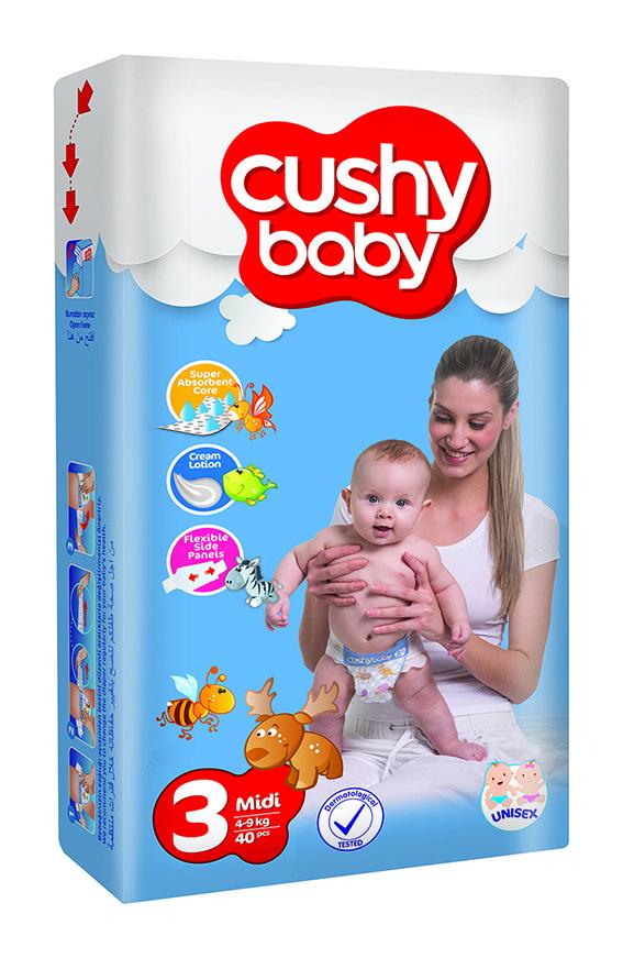 f6f07cab801d Подгузники детские Cushy Baby Midi 3 Jumbo 4-9 кг 70 шт, цена 279 ...