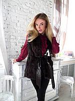 Женская меховая  жилетка из бобра