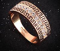 Позолоченное кольцо с австрийскими кристаллами р 16,17,18 код 261