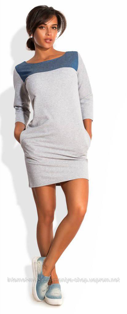 Платье женское вставка джинс