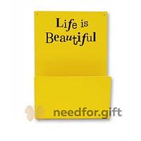 Полка для почты большая Life is beautiful