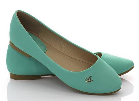 Женские балетки Ада Зеленый