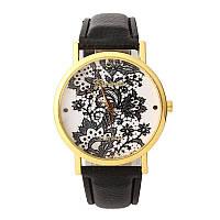 Женские часы с нежным кружевным принтом., фото 1