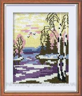 Набор для вышивания крестом «Пейзаж с березами» (284), Риолис