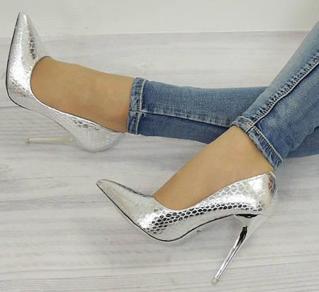 Женские туфли Nogales SREBRNE