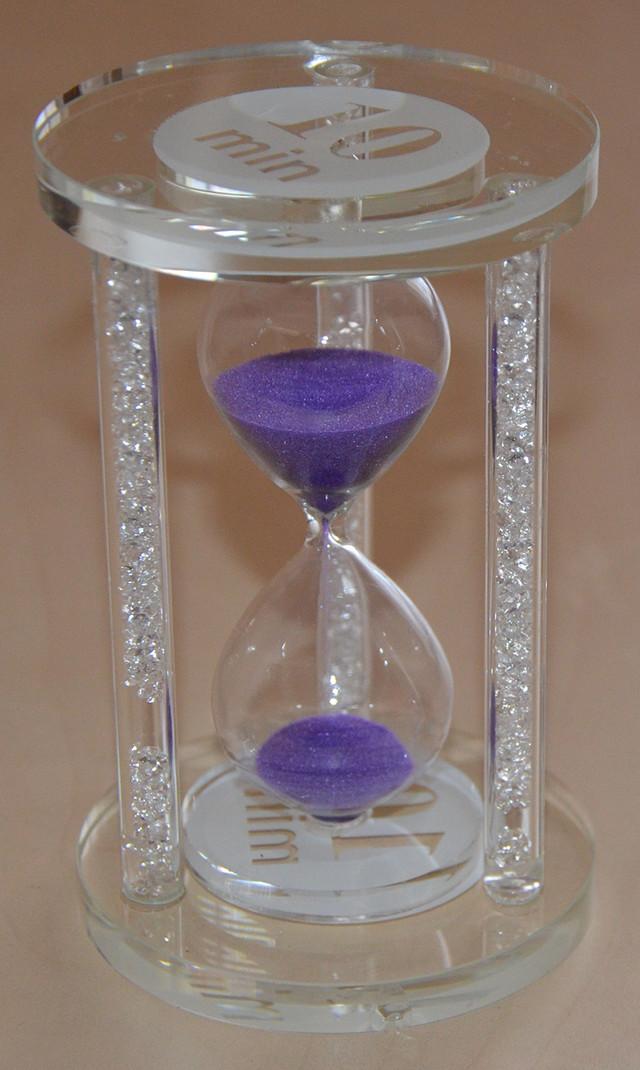 песочные часы стеклянные