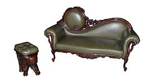 """Шкіряний диван - оттоманка """"Тіара"""" (Софа), фото 2"""