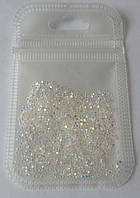 Хрустальная крошка, кристалл пикси, Crystal Pixie, Clear АВ, 200 шт.