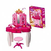 Детский туалетный столик с зеркалом 661-21: 8 предметов, музыка, свет, 2+ лет