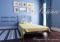 Кровать односпальная металлическая Диана Металлик, бордо, черная медь, черное золото, белый бархат