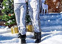 Мужские теплые спортивные штаны Adidas с карманами