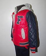 Куртка демисезонная для мальчика 3-6 лет. Цвет красный