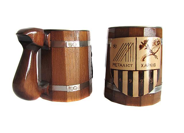 Кружка деревянная с эмблемой Футбольный Клуб