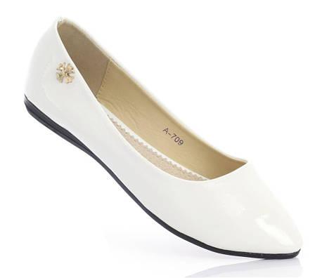 Женские балетки OREE White