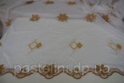 Ткань кленовый лист органза с вышевкой