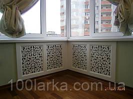 Экран (фасад) на батарею отопления решетка резная №17В Скидка (MDF) цена 2500 грн. за м.кв