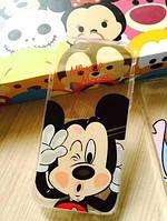 Чехол Микки Маус iphone 5/5S прозрачный, фото 1