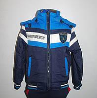 Куртка демисезонная для мальчика 3-6 лет. Цвет синий+электрик