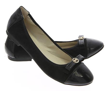 Женские балетки Redondo Black