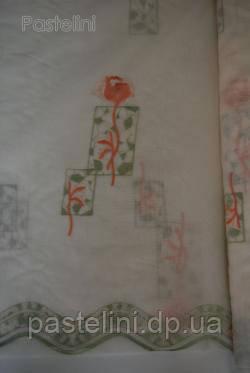 Ткань  органза с вышевкой Рапсодия