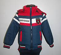 Куртка демисезонная для мальчика. Цвет синий+красный