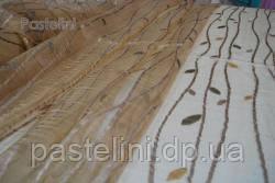 Ткань  органза с вышевкой Листопад
