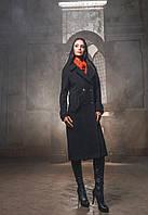 Элегантное Двубортное Пальто Демисезон Черное