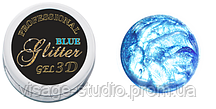 3 D GEL GLITTER NAILS MOLEKULA DELUXE LINE 5 ML BLUE