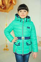 Куртка демісезонна для дівчинки «Змійка»,бірюза, фото 1