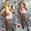 Кожаная юбка удлиненная, фото 2