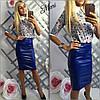 Кожаная юбка удлиненная, фото 4
