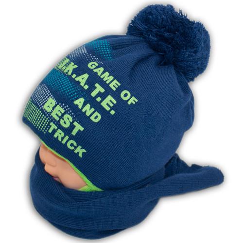 Комплект (шапка+шарф) для мальчика